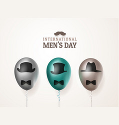 International men s day or father s day vector