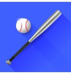 Baseball Bat and Ball vector image vector image