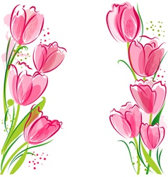 March Tulips vector image vector image
