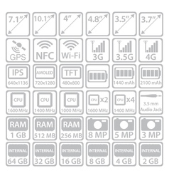 Set of Smartphone Icons vector image