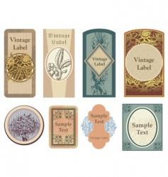 vintage vector labels vector image