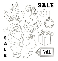 Christmas sale set vector image vector image
