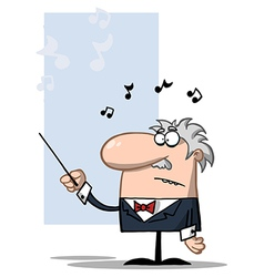 Conductor Holds Baton vector image vector image