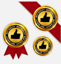 gold label best quality vector image