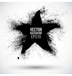 Grunge star vector image vector image