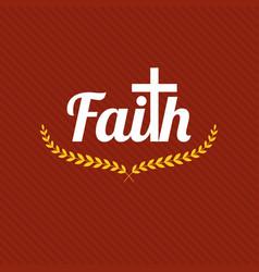 word faith vector image vector image