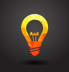 Abstract light bulb vector image vector image