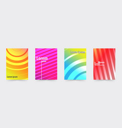 brochure gradient cover template set vector image vector image