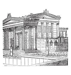 Erechtheum restored building of the new vector