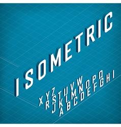 Isometric Alphabet On blueprint abstract vector image