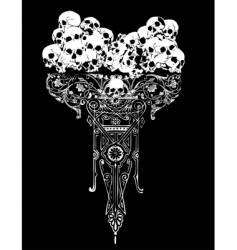 legion of skulls illustration vector image vector image