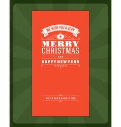 Merry christmas invitation card vector