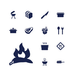 13 cook icons vector