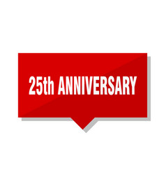 25th anniversary red tag vector