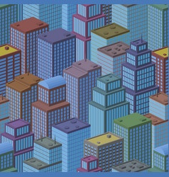 3d isometric city seamless background vector image