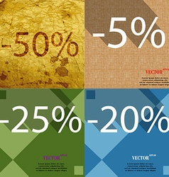 5 25 20 icon Set of percent discount on abstract vector