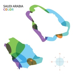 Abstract color map saudi arabia vector