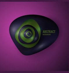 Amorphous forms on a bright background abstract vector