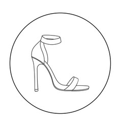 ankle straps icon in outline style isolated on vector image