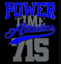 athletics college department vector image
