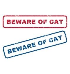 Beware Of Cat Rubber Stamps vector image