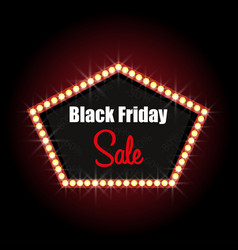 Black friday luminous frame stylish design sale vector