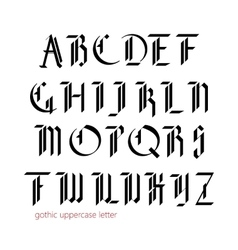 Blackletter modern gothic font vector image