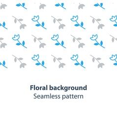 Blue flowers fancy backdrop pattern vector