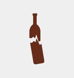 Broken bottle icon vector