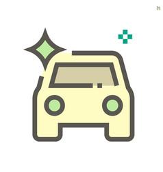car shine icon design 48x48 pixel perfect vector image