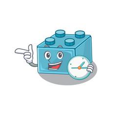 Cartoon character concept lego brick toys having vector