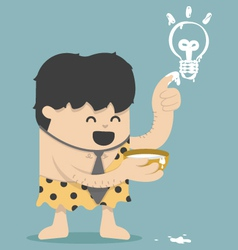 Caveman Business Have Idea vector image