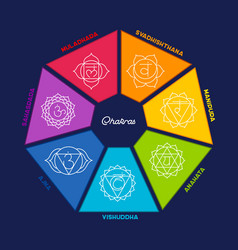 Chakras set vector