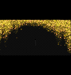 christmas holiday golden glitter snow background vector image
