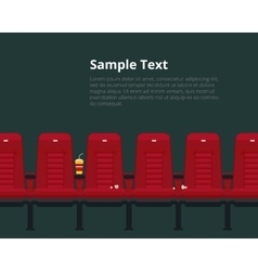Cinema chairs poster with sample text vector