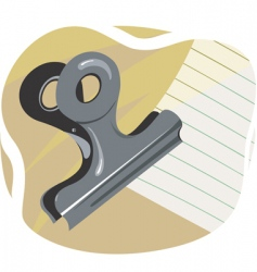 Clip and paper vector