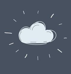 cloud icon on dark vector image