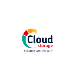 cloud storage badge vector image