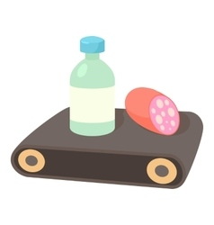 Conveyor belt icon cartoon style vector