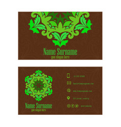 corporate business or visiting card professional vector image