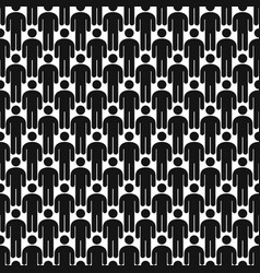 crowd of people seamless pattern background vector image