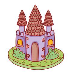 cute fairytale castle icon vector image