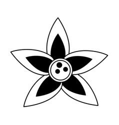 cute flower symbol vector image