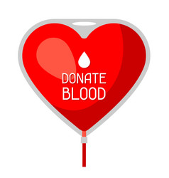 donate blood medical and healthcare concept bag vector image