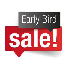 Early bird sale label tag vector