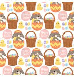 easter rabbit holiday bunny rabbit vector image