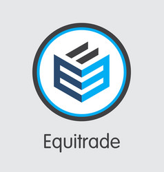 Equitrade virtual currency eqt logo vector