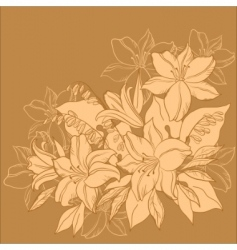 Flower background monochrome vector