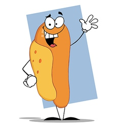 Friendly Hot Dog Mascot Cartoon Character vector image