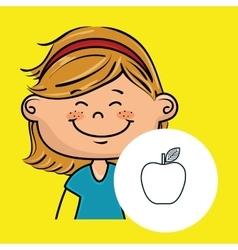 girl student school vector image